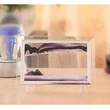 Metal Frame Moving Sand Time Glass Picture Home Office Desk Decor Craft Gift E