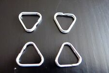 4Pcs Replacement Metal Chrome Finish Split Ring Camera Strap Triangle Rings Hook