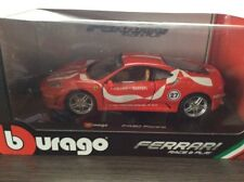 NIB BURAGO Red/White FERRARI F430 FIORANO 1/24 Scale Toy Model Car