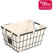 Storage Baskets Organizing Small Wire Basket Chalkboard Better Homes and Gardens