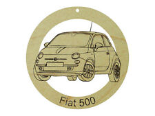 Fiat 500 Natural Maple Solid Hardwood Ornament Sanded Finish