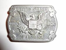 Vtg Dez Pewter Belt Buckle American Eagle USA 1776-1976 Bicentennial Colorado