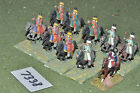 25mm seven years war russian hussars 10 cavalry (7338) painted metal