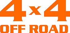 4x4  off Road Truck / Jeep Suv Decal - Sticker ORANGE - 2 DECALS INCLUED