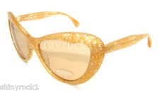 Authentic MIU MIU Yellow Fantasy Glitter Sunglass MU 04O 04OS - KAS9N1 *NEW*