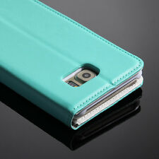 For Samsung Galaxy S6 Edge Plus Magnetic PU Leather Stand Card Wallet