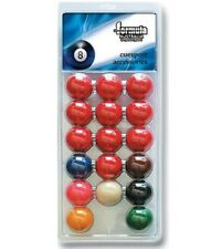 "Pack of Recreational Snooker BALLS 2"" inch Set of 17 includes 2"" White Cue Ball"