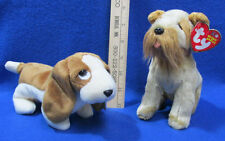 Ty Beanie Babies Stuffed Animal Dogs Tracker 1997 &  Schnitzel 2002  Lot of 2