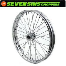 "SPOOL HUB WHEEL 21"" x 1.85"" w/ 3/4"" Bearings HD HARLEY CHROMED SPOKES CHOPPER"