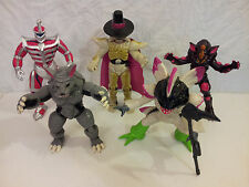 """Mighty Morphin Power Rangers Evil Space Aliens Deluxe 8"""" Lot of 5 Bandai MMPR"""
