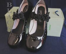 NIB PEANUT G312 Flower Girl/Party DRESS SHOES BLACK Sz 5 Wedding/Formal Event