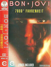 BON JOVI 7800 FAHRENHEIT CASSETTE ALBUM VERTIGO VERLC24 US ISSUE MISPRINT