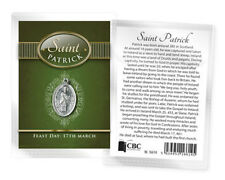 SAINT PATRICK IRELAND MEDAL AND BIOGRAPHY CARD IN A PLASTIC KEEPSAKE WALLET