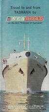 1963 Steamship Schedule PRINCESS OF TASMANIA Australian National Line Auto Ferry