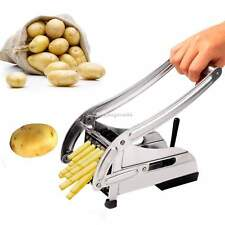2016 Stainless Steel French Fry Cutter Potato Vegetable Slicer Chopper 2 Blades