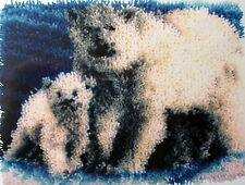 "CARON  LATCH HOOK POLAR BEAR RUG KIT   ""ARCTIC FAMILY"""