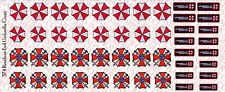 1/6 Scale Decals: Resident Evil Umbrella Corporation - Waterslide Decals