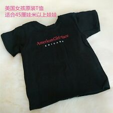 cool black T shirt clothes for 18inch American girl doll children gift b211