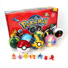 Pokemon 8pcs/Set Figures Cosplay Pokeball Pop-up Ball Dolls Toys Kids Boys Gifts