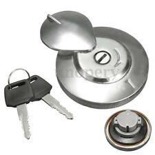 Stainless Steel Gas Fuel Tank Cap Cover W/ 2 Keys For YAMAHA V-STAR VIRAGO XV650