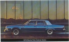 Buick Electra Park Avenue Sedan original USA issued Postcards 1979