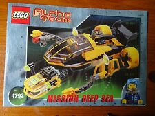 LEGO INSTRUCTIONS  (ONLY) No 4792 MISSION DEEP SEA