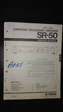 Yamaha sr-50 service manual Original Repair stereo surround sound amplifier amp