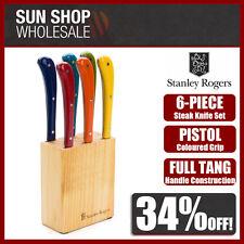STANLEY ROGERS Pistol Grip Provincial Steak Knives 6pc Set Coloured! RRP $79.95!
