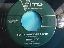 Rare Female Jazz Vocal 45 : Helen Troy ~ A Kiss In The Dark ~ Vito 101 & 103