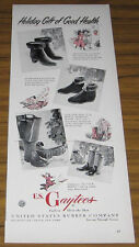1948 VINTAGE AD~US GAYTEES LADIES RUBBER BOOTS~US RUBBER CO