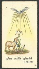 Estampa antigua Cordero de Dios andachtsbild santino holy card santini