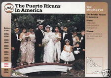 THE PUERTO RICANS RICO IN AMERICA Wedding Photo GROLIER STORY OF AMERICA CARD