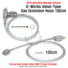 (2016 Apr. New Upgrade) G Works Valve Type Gas Extension Hose 100cm Screw Output