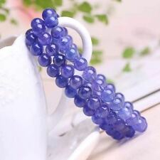 Natural Tanzania Tanzanite Gemstone Round Clear Beads Bracelet 6.6mm AAAAA