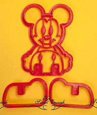 3D Mickey mouse Cookie Cutter plunger Sugarcraft Cake Decoration Birthday