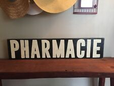 PHARMACIE Sign French Pharmacy Farmhouse Fixer Upper Inspired Plaque Bathroom