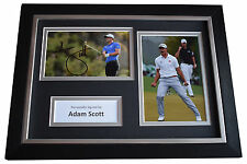 Adam Scott Signed A4 FRAMED photo Autograph display Golf Sport AFTAL & COA