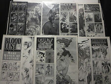 "Comic Art Portfolios Lot of 6 11"" x 14"" B&W 36 prints BAD GIRLS ART Balent etc."