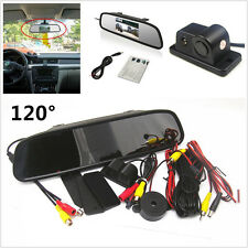 "4.3"" Rearview Mirror LCD Monitor & 120°Night Vision Radar Car Reverse Camera Kit"