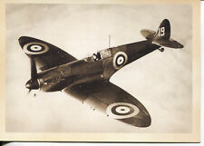 POST CARD OF A WORLD WAR II BRITISH SPITFIRE FIGHTER PLANE