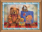 DIY Glass Beads on Canvas Tapestry Needlepoint Kit Embroidered Wall Art Decor