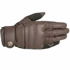 Alpinestars Robinson Leather Motorcycle Bike Gloves - Tobacco Brown - Small