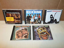 Tested ! Lot 5 CD Pretenders/Grease Soundtrack/Blondie/Blood Sweat & Tears/Dance