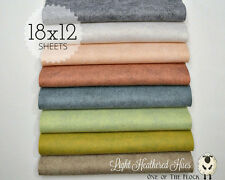 "Lt. HEATHERED HUES Felt Collection Merino Wool Blend Felt EIGHT 12"" X 18"" Sheets"