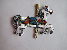 #3108 Amusement Park Merry-Go-Round,Horse Embroidery Iron On Applique Patch