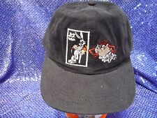 Looney Tunes Stamp Collection Snapback Hat Bugs Bunny Tazmanian Devil Black