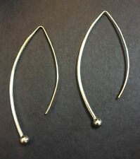 """Silpada Sterling Silver  """"Balancing Act""""  Threader Wire Earrings  W1307 EUC"""