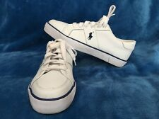 Polo Ralph Lauren Harold White Leather Sneakers Tennis Shoes Size 7.5D