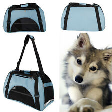 Pet Dog Nylon Handbag Carrier Travel Carry Bags For Small Animals Light Blue S