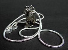 Egyptian seduto Bastet GATTO peltro amuleto ciondolo con catena